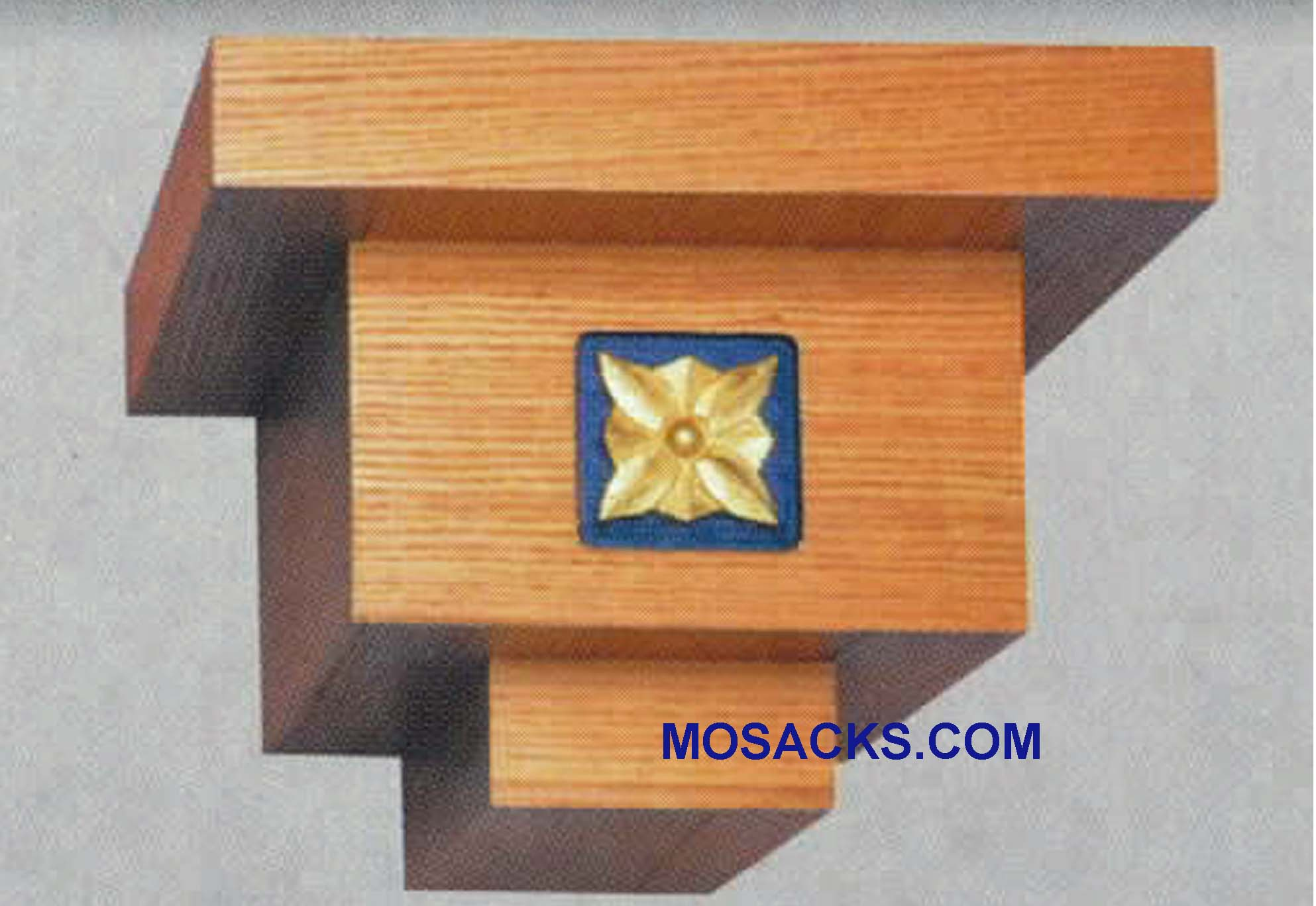 "Wooden Wall Mount Pedestal  20""w x 19""d, 14-1/2""h #4G16-G W Brand Church Furniture at Mosack's"
