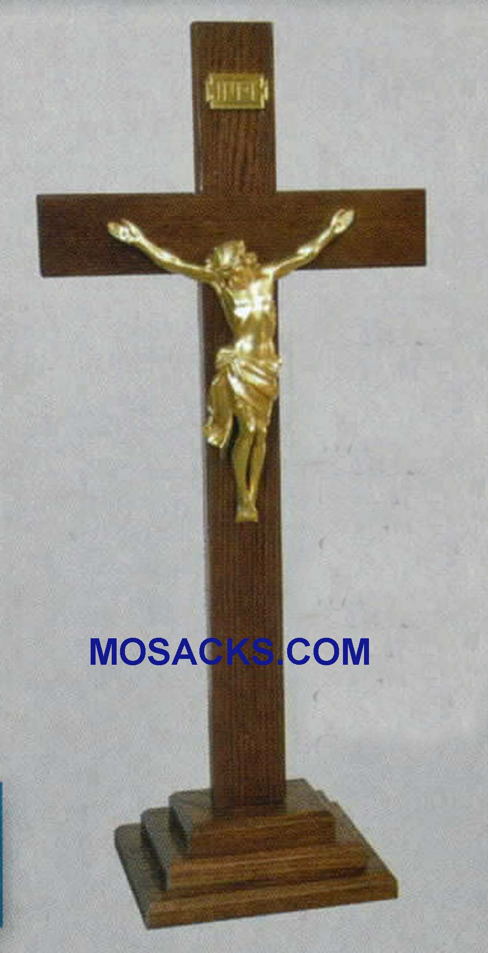 "Wooden Standing Crucifix 30""h and base 3""h 363"