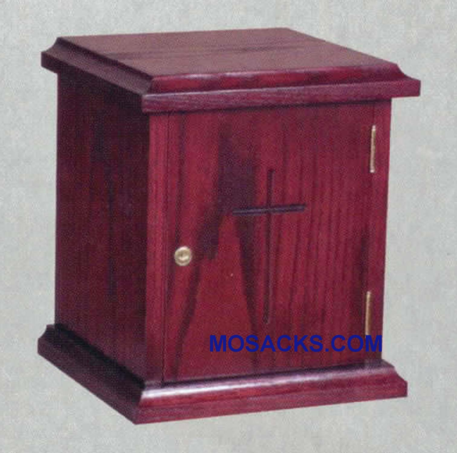 "Wooden Tabernacle with locking door 12""w x 11""d, 14""h 950"
