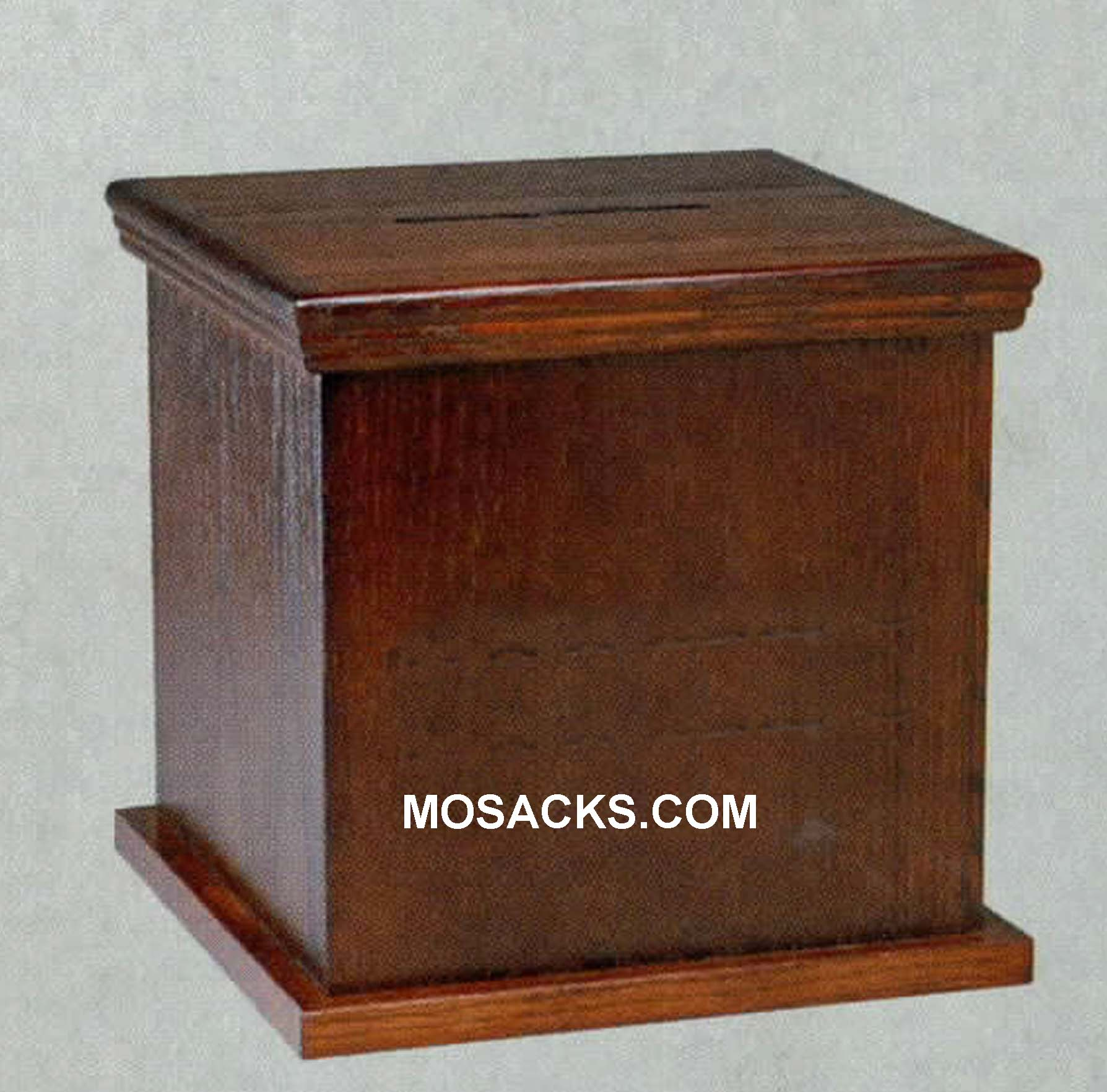 "Wooden Tithe Box without Lettering 16"" w x 16"" x d x 11"" h #1164 Offering Box"