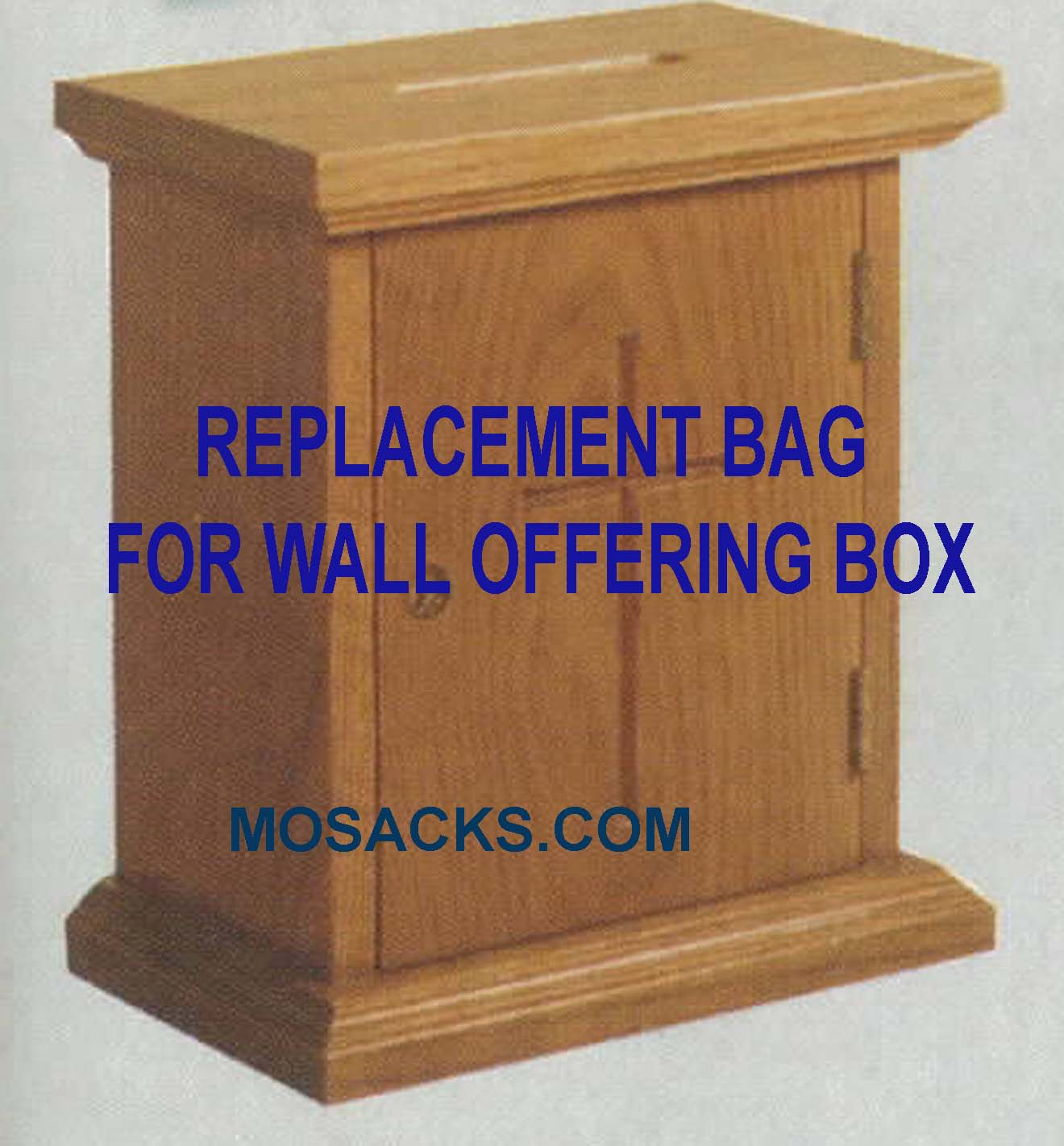 "Replacement Bag for Wall Offering Box 10"" w x 6"" d x 11"" h 401B"