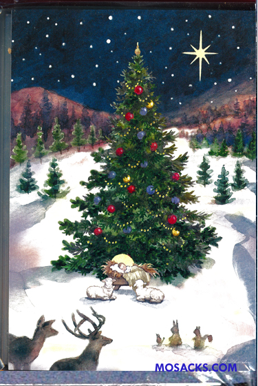Woodland Christmas Tree Boxed Cards 63-C73262