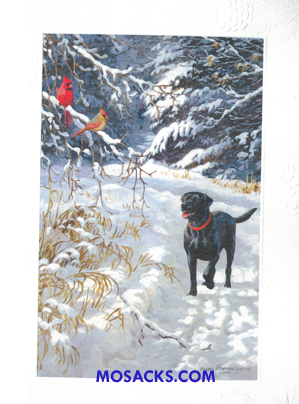 Woodland Dog Boxed Christmas Cards 63-DXE81081