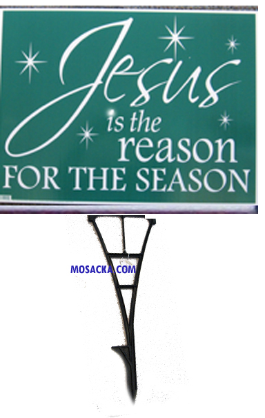 Yard Sign Jesus Is The Reason for the Season-92005